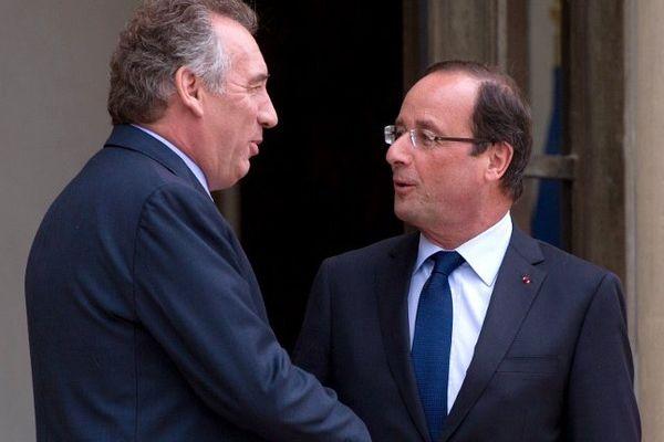 François Bayrou et François à l'Elysée le 4 juin 2012