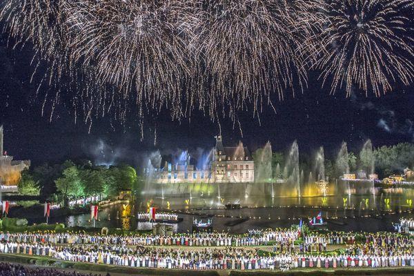 La cinéscénie du Puy Fou lors du 40 ème anniversaire du Puy du Fou, en Juin 2017