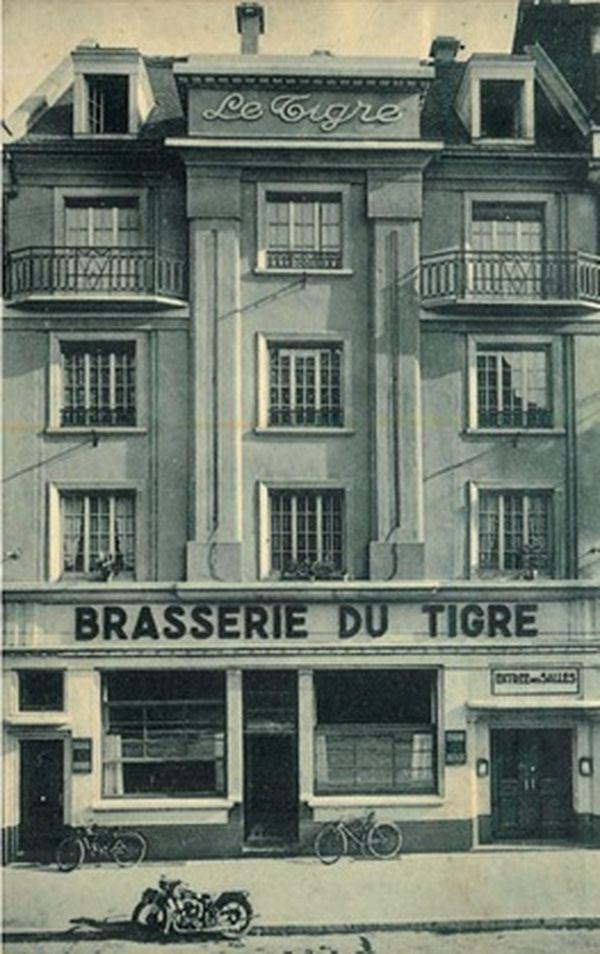 La Brasserie du Tigre, rue du Faubourg-national à Strasbourg dans les années 1930.
