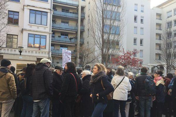 Mobilisation ce lundi matin devant le tribunal d'instance de Villeurbanne