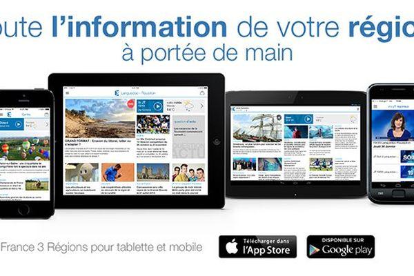 Téléchargez l'application mobile et tablette France 3 Régions pour rester informés de l'actualité en Languedoc-Roussillon