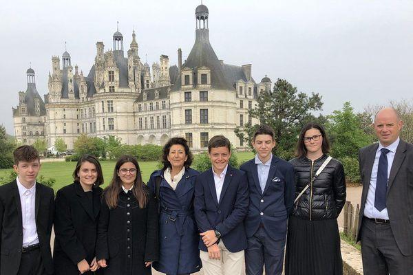 Six élèves du collège L'Eganaude se sont rendus aux commémorations de la mort de Léonard de Vinci à Rome.