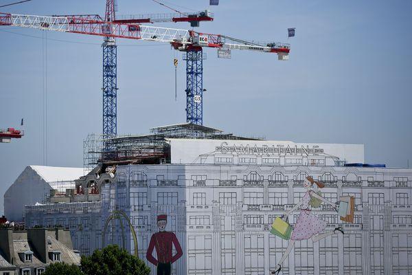 Le chantier de la Samaritaine, à Paris.