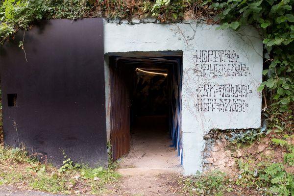 L'entrée de l'ancien blockhaus