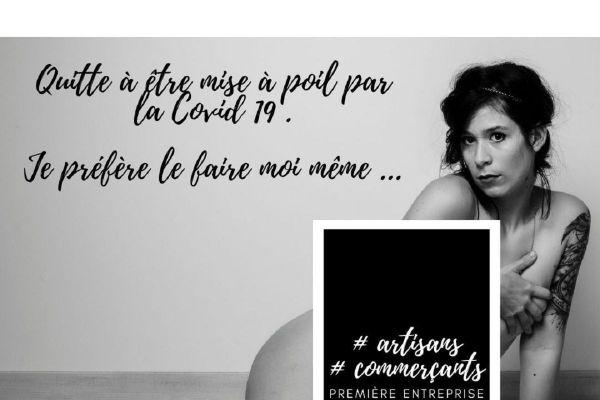 Pour alerter sur les conséquences économiques du reconfinement lié au COVID 19, des artisans du Puy-de-Dôme se sont mis à nu devant l'objectif, comme la photographe Marion Pinel.