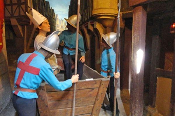 Une des scènes présentées au Musée Jeanne d'Arc à Rouen