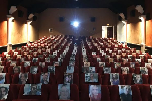 La salle de cinéma Le Rex de Bernay (Eure) le 20 mai 2020