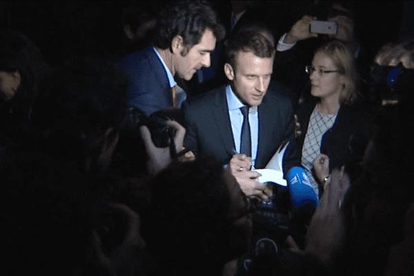 Emmanuel Macron à Pacé