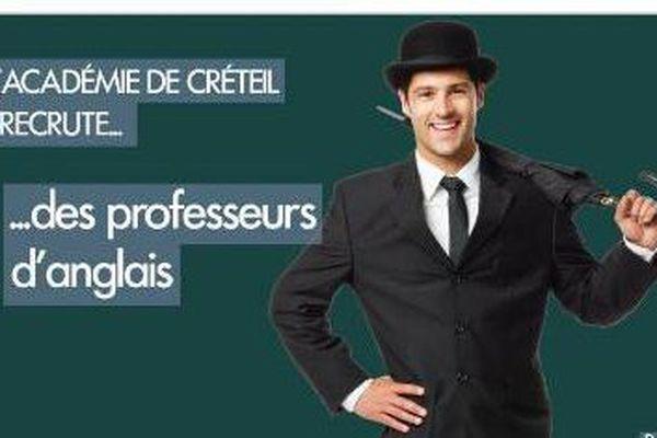 Capture d'écran d'un tweet de l'académie de Créteil.