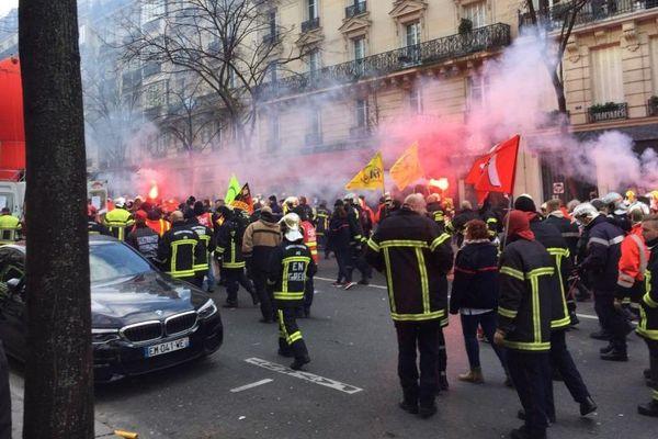 La manifestation est partie de la place de la République, à Paris, en direction de la place de la Nation