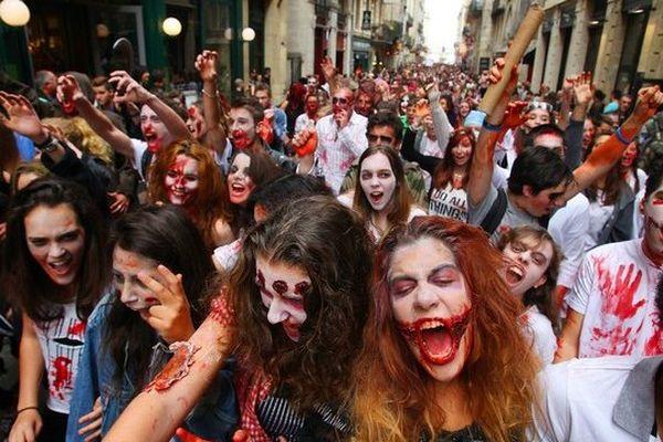 A la zombie walk de Bordeaux le 25 octobre dernier.