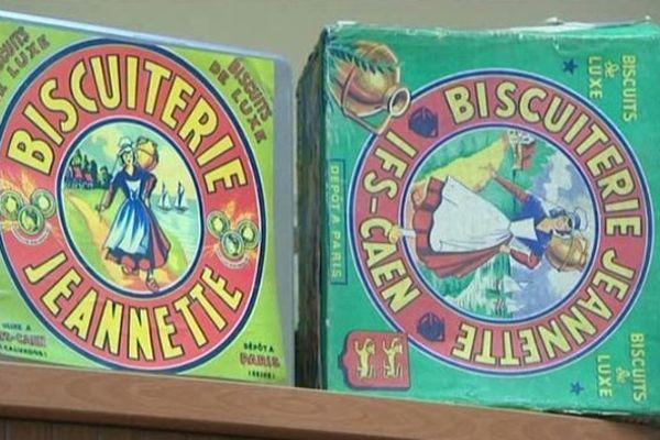 Les célèbres boîtes des madeleines et biscuits Jeannette