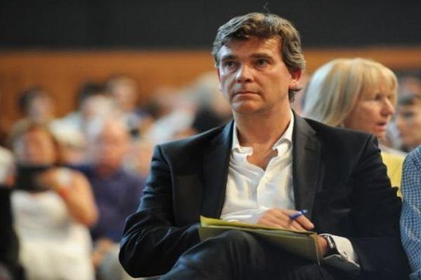 Arnaud Montebourg, bien décidé à dire ce qu'il pense, à l'université d'automne de Laudun l'Ardoise dans le Gard.