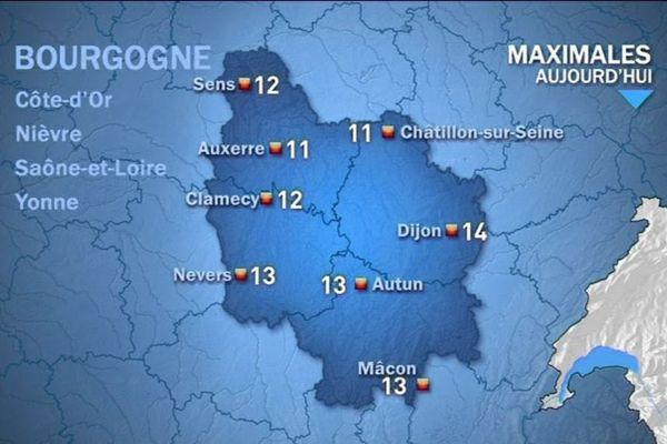 Les prévisions de Météo France mardi 13 octobre après-midi