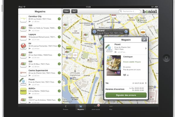 L'application Bonial permet de consulter les catalogues de façon dynamique depuis son smartphone ou sa tablette tactile.