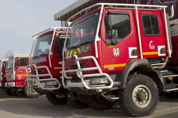 Des camions de pompiers, photo d'illustration.