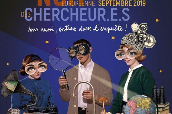 Affiche officielle de la Nuit Européenne des Chercheurs