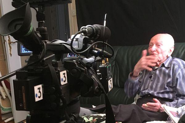 Jean Manchette témoigne devant la caméra de France 3 Lorraine le 30 janvier 2020