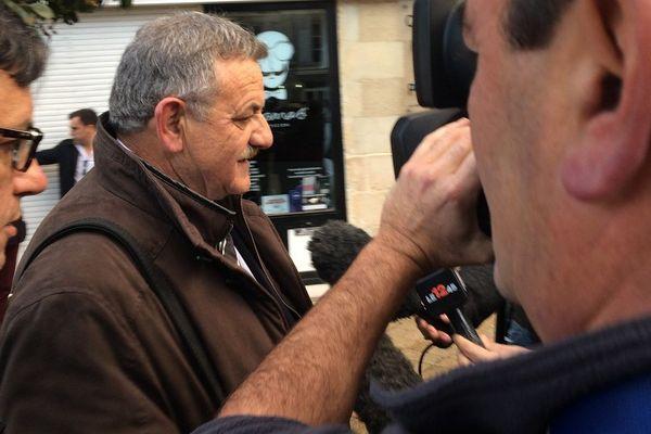René Marrater à son arrivée au tribunal de Poitiers le mercedi 18 novembre 2015