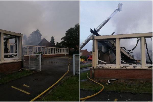 L'incendie a touché l'école maternelle Trystram à Dunkerque. Les dégâts sont colossaux.
