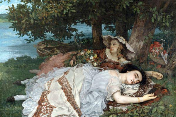 G.Courbet. Les Demoiselles des bords de la Seine