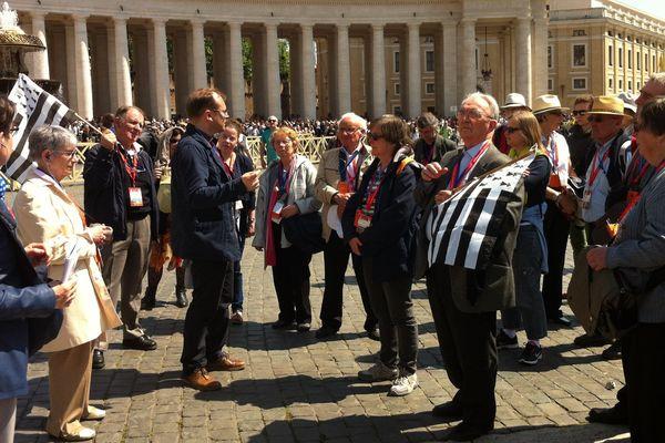 Les Bretons place St Pierre à Rome