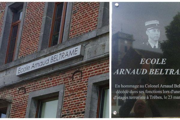 La commune a tenu à rendre hommage au colonel Arnaud Beltrame.