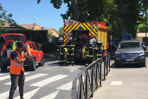 Une dizaine de pompiers a été déployée sur cette intervention à Valergues - 3 juillet 2020