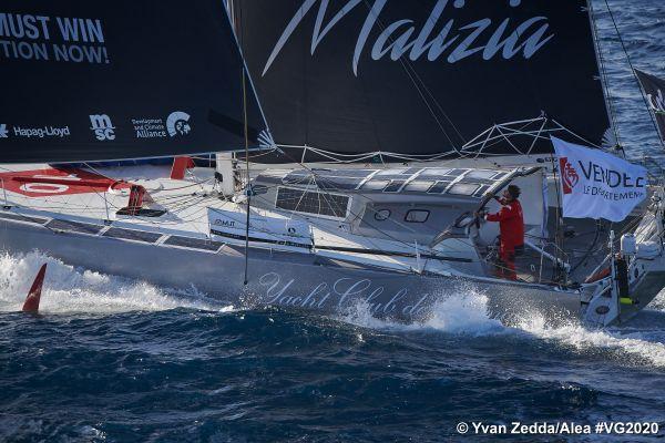 Le skipper Allemand Boris Herrmann à l'entrainement sur son Imoca Sea Explorer - YC de Monaco le 10 Septembre 2020 au large de Lorient.