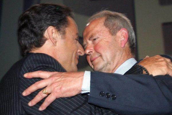 Nicolas Sarkozy et Antoine Rufenacht en 2007 au Havre