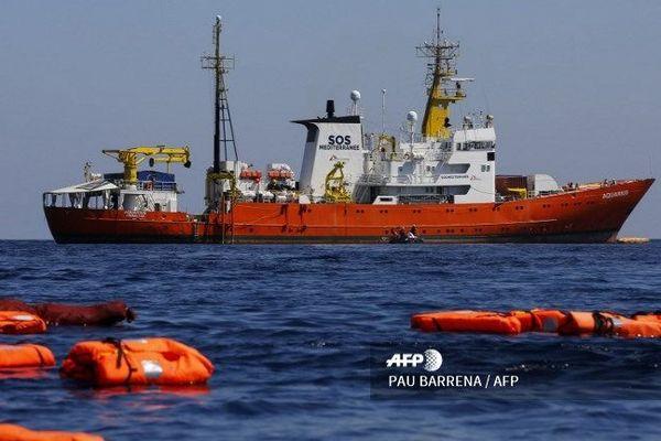 L'Aquarius, en juin dernier, lors d'une campagne de sauvetages en mer