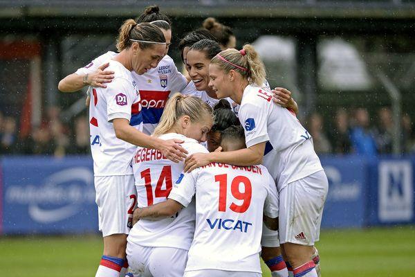 30/09/17 - Match de Ligue 1 de football féminin Montpellier- OL. Les lyonnaises s'imposent 5-0