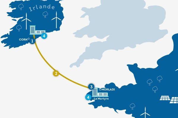 Le câble reliera la région de Cork avec le nord Finistère