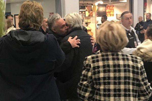 Laurent Fortin vendredi 29 novembre à son retour à l'aéroport de Roissy