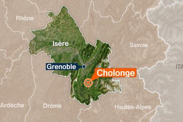 Carte Cholonge en Isère