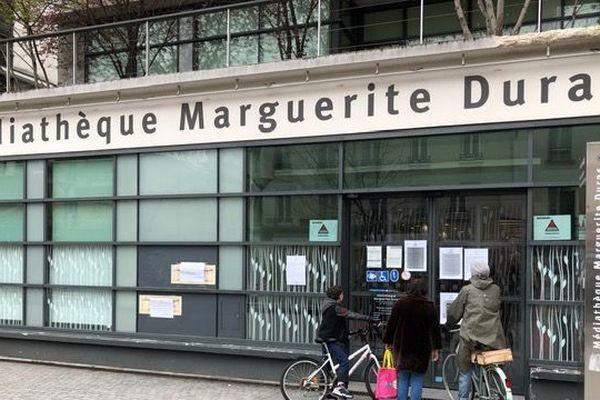 La Médiathèque Marguerite Duras fermée en raison du coronavirus
