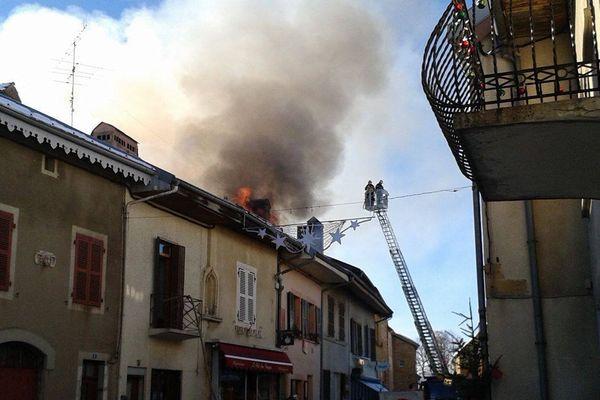 Incendie à Nozeroy