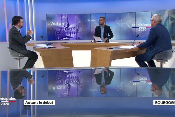 Les deux candidats ont confronté leurs idées durant 40 minutes sur le plateau de France 3 Bourgogne