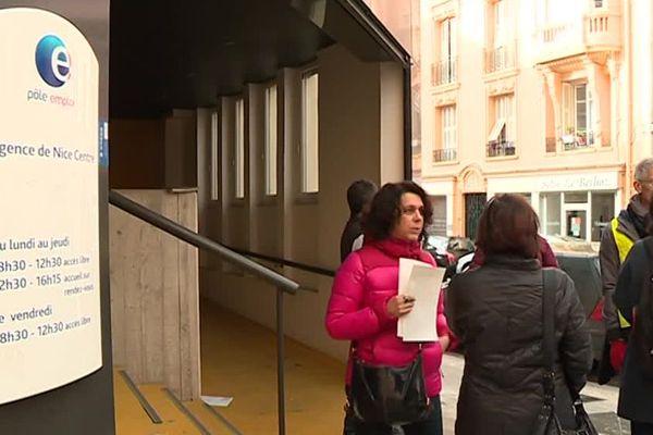 A Nice, les agents de Pôle Emploi sont en grève, ce 20 novembre 2018