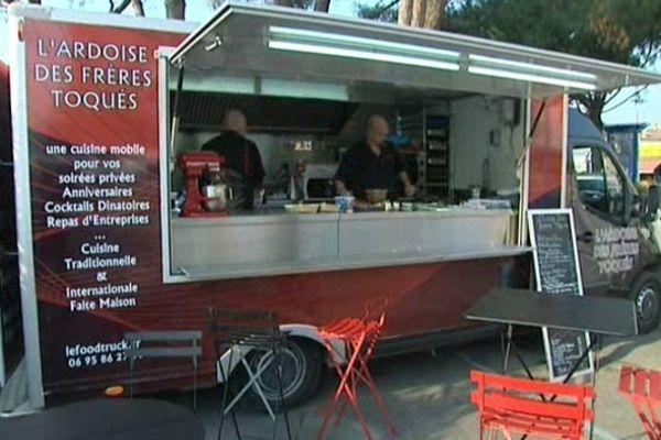 Un Food Truck installé à Mandelieu, en avril 2013