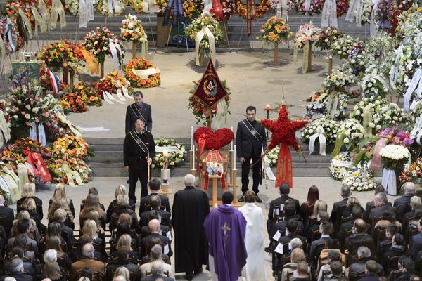 Les funérailles de Bernard Violier dans la cathédrale de Lausanne