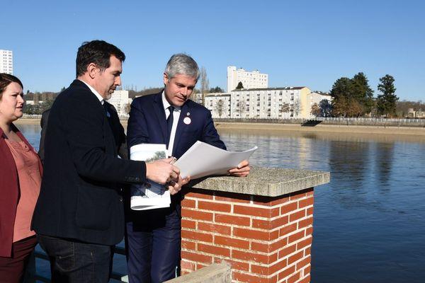 Laurent Wauquiez était dans l'Allier, le 15 février, pour signer le pacte régional de l'Allier. La Région Auvergne-Rhône-Alpes s'engage ainsi à débloquer 60 millions d'euros pour le développement du département.