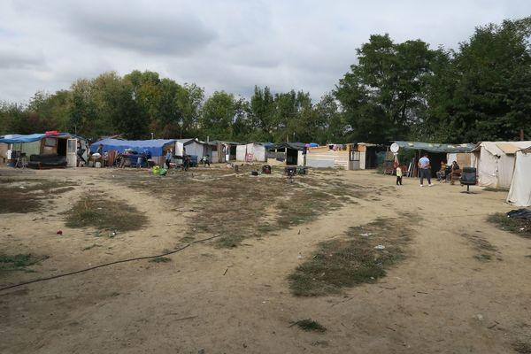 Un camp rom situé à Vigneux-sur-Seine, en Essonne.