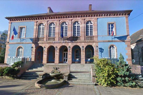 La mairie de Sainte-Marie-aux-Mines, dans le Haut-Rhin