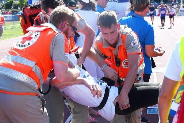 Beaucoup de malaises à l'arrivée du semi-marathon d'Auray-Vannes liés à la chaleur