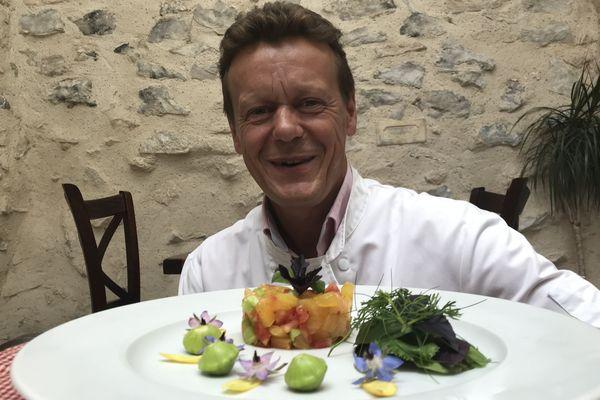 Benoit Pasquier puise dans son jardin potager , une source inépuisable de fraîcheur, de saveurs et d'idées