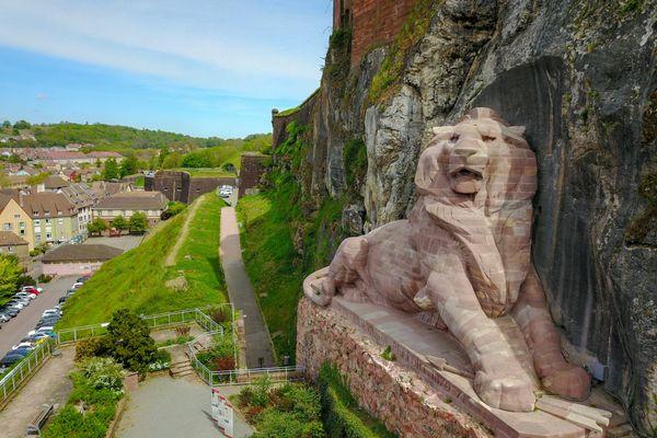Le Lion et la Citadelle de Belfort étaient en lice avec 14 autres monuments historiques du patrimoine français.
