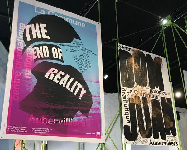 Ces deux affiches du théâtre d'Aubervilliers font partie de la série qui a séduit le jury du Grand Prix.