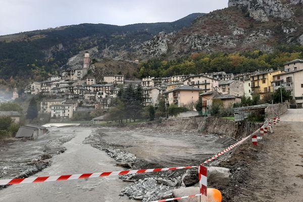 Le village de Tende, dans la Vallée de la Roya (Alpes-Maritimes) a été fortement touché par la tempête Alex le 2 octobre 2020.