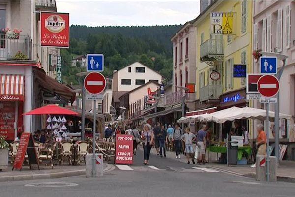 Gérardmer, le centre ville.